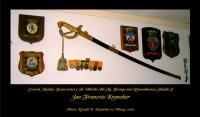 Medailles, schildjes en sabel van Jan F. Krancher