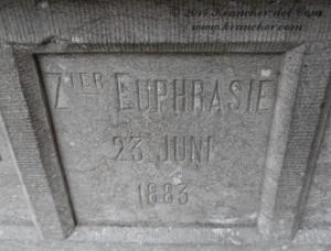 Elisabeth Marie Carolina Helena Webb, Zuster Euphrasie