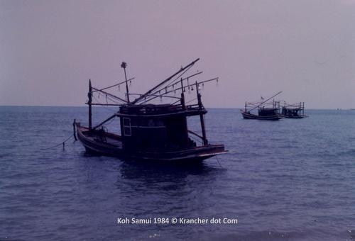 Vissersbootjes<br>Koh Samui 1984