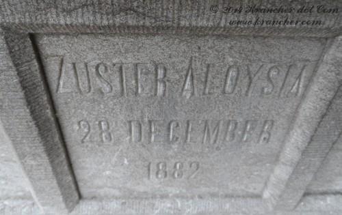 """Zuster Aloysia<br><i>Marie Louise Antoinette de Neck</i> <br><span style=""""font-size: xx-small"""">Bron:  Register Peneleh; RA1894/319</span>"""