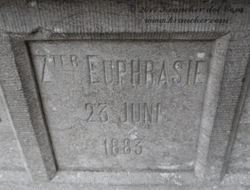 "Zuster Euphrasie<br />  <i>Elisabeth Marie Carolina Helena Webb</i><br />  <span style=""font-size: xx-small"">Bron: Register Peneleh</span>"