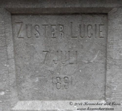 "Zuster Lucie<br><i>Antonia Hendrika Kruydwagen</i> <br><span style=""font-size: xx-small"">Bron:  Register Peneleh</span>"